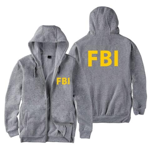 fashion Zipper Men women Hoodies Sweatshirts FBI Print sport hip hop Casual Zip Up Unisex Long Sleeve hoodie jacket coat top 4XL Islamabad