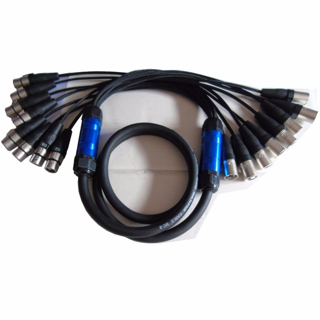 High quality Pro Audio 8 channel Stage Snake Cable with Lightning ...