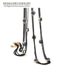 Neoglory cadena suéter largo de múltiples capas en capas perlas collares de la borla de joyería de mujer de marca 2017 nuevos regalos de cumpleaños partido gn