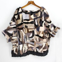 Женское зимнее пончо из норкового меха и накидки с рукавами «летучая мышь», свободные, большие размеры, весенне осенняя верхняя одежда, паль