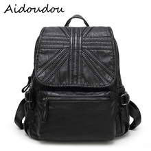 New 2018 100 Real Soft Genuine Leather Women Backpack Woman Korean Ladies Strap Laptop Bag Daily
