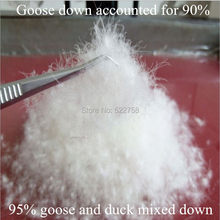 95% weiße gans & ente gemischt unten/gans entfielen 90%/füllkraft 800/tröster und jacke füllstoff/Paypal/5 unze preis