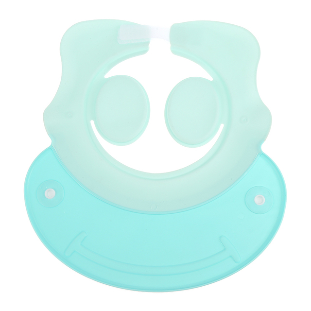 Baby Kids Bathing Cap Shower Children Shampooing Adjustable Ear Protection Hat Eco-Friendly Non-Toxic Baby Bath Cap