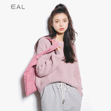 The new autumn loose pullover sweater coat thick font b bottom b font thick needle sweater