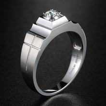 18K Gold GIA Diamond Ring for Men Fine Jewelry Wedding Engagement Bands SI H 3EX Round