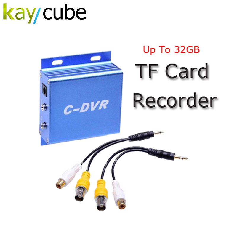 Mini C-DVR Video/Audio Recorder Motion Detection TF Card Digital Video Audio Recorder for CCTV Camera Micro SD Card Record super mini ahd 2 in 1 dvr recorder for recording pixel 1 3mp mini ahd cam 1ch audio support tf card 256gb motion detection cctv