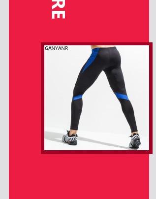 ₩GANYANR Marca Mallas Hombres Compresión Skins Fitness Entrenamiento ... 315fda371c97