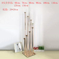 6PCS/lot free shipment gold candle holder for wedding and event decoration