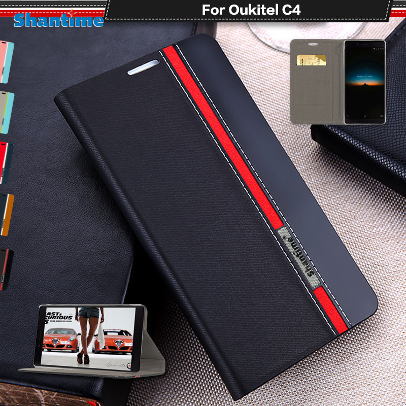 Business Book Case For Oukitel C4 Luxury PU Leather Wallet Flip Case For Oukitel C4 Soft Silicone Back Cover