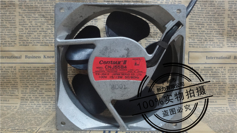 Original SERVO CNJ55B4 12038 100V 15W 0.15A 120 * 120 * 38mm winds of fan new afb1212she 12038 12cm 1 6a 12v 4wire pwm 40cm long line of fan for delta 120 120 38mm
