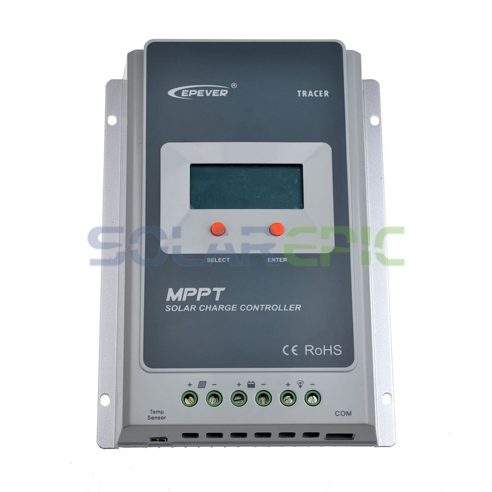 EPEVER 40A MPPT Solar Charge Controller Battery Regulator Max 100V PV Input 12V/24V DC Auto With LCD Display Send from USA/AU/UK 20a mppt solar charge controller 96v battery regulator charger 300v pv input rs232 mppt 20a controller with lcd display