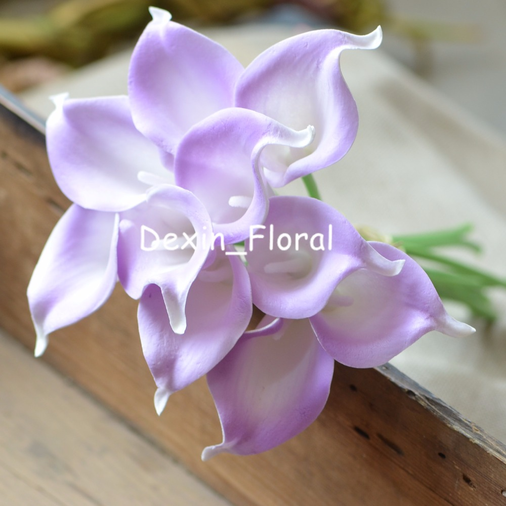 Lilac calla lilies real touch flowers wedding bouquets light purple lilac calla lilies real touch flowers wedding bouquets light purple silk bridal bouquets wedding centerpieces artificial izmirmasajfo