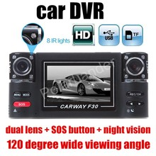 hot sale 2.7″ inch LCD Dual Lens Car DVR Camera F30 HD Recorder dashcam 120 Degree wide viewing angle Registrator Night Vision