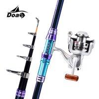 DOAO đá fishing rod/Sea Fishing Combo Cao carbon đúc que Kính Thiên Văn Que quay fishing rod và baitcasting reel