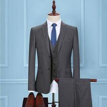 Мужские свадебные костюмы мужской деловой костюм из трех предметов