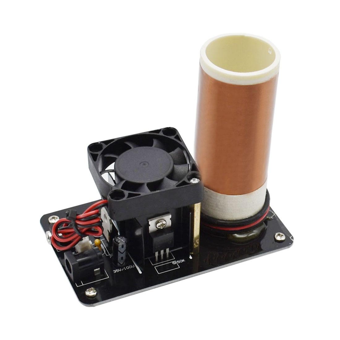 Musique Tesla bobine Plasma haut-parleur avec adaptateur d'alimentation sans fil Transmission V8D5 Kits de construction modèle-prise US/EU