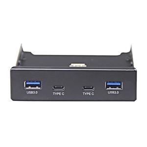 Image 2 - En Labs 4 Ports multi USB C USB 2.0 USB 3.0 Hub Splitter Front Panel Combo Bracket Adapter for Desktop 3.5 Inch Floppy Bay