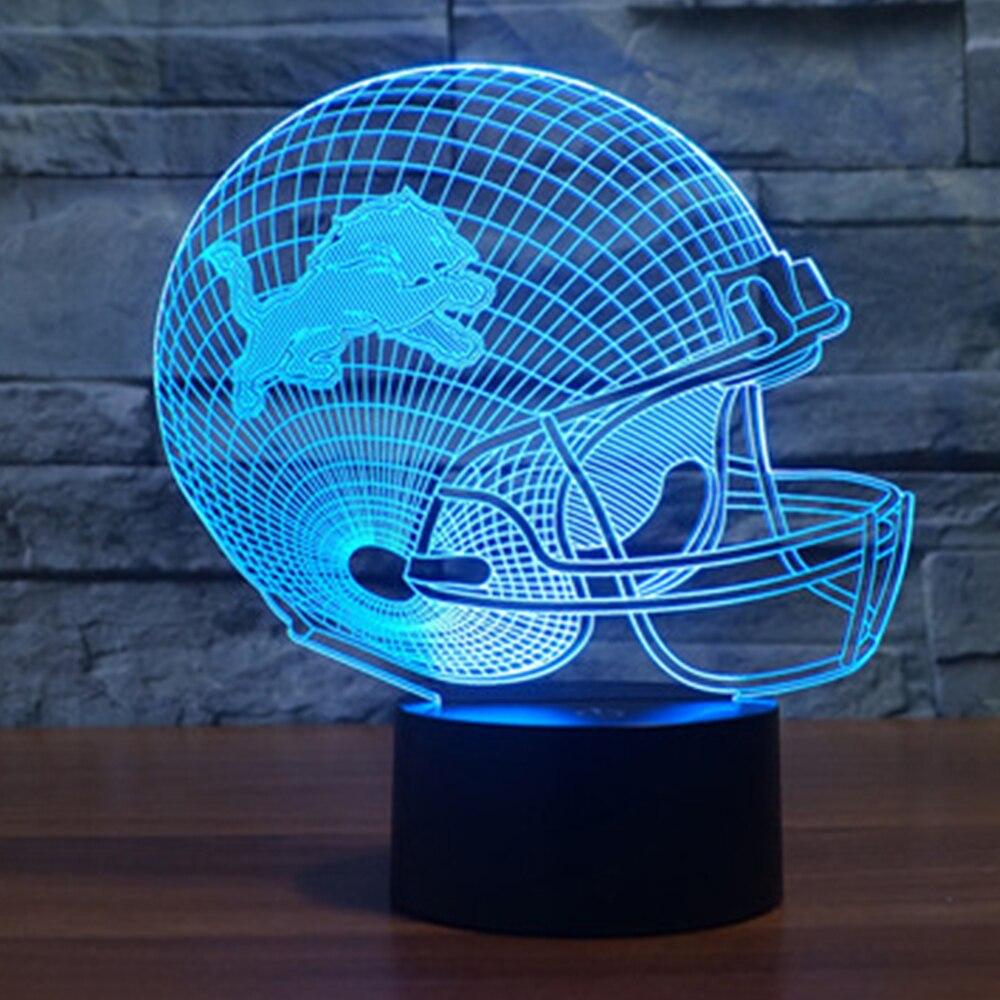 Luzes da Noite mesa nfl equipe logo luz Fonte de Luz : Lâmpadas Led