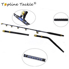 TopLine Tackle BlueSpear 80lbs130lbs 5'6''Fishing Trolling Rod Alu Butt Trolling RodStraight Butt Rod i bent butt trolling rod(China)