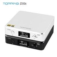 TOPPING D50s ES9038Q2M * 2 ЦАП Bluetooth 5,0 LDAC DSD512 32 бит/768 кГц Hi-Res аудио декодер HIFI