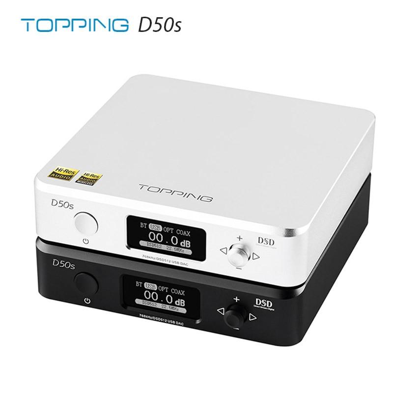 TOPPING D50s ES9038Q2M*2 DAC Bluetooth 5.0 LDAC DSD512 32Bit/768kHz Hi-Res Audio HIFI Decoder