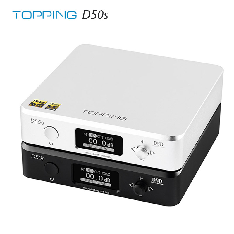 TOPPING D50s ES9038Q2M * 2 DAC Bluetooth 5.0 LDAC DSD512 32Bit/768kHz hi-res Audio décodeur HIFI