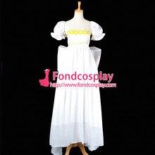 Бесплатная доставка сейлор мун усаги цукино белое шифоновое dress косплей костюм сделанные на заказ