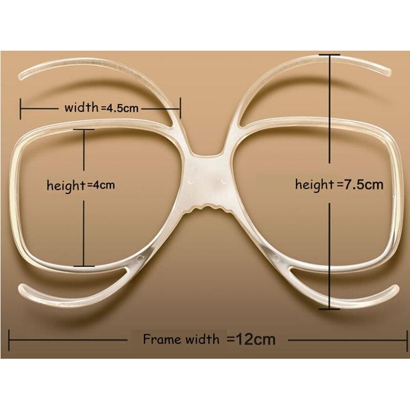 Stgrt 2019 anti-fog prescrição óculos de esqui rack pode colocar lente diopter no tamanho universal espelho de esqui míope quadro interno