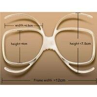 Stgrt 2019 anti fog prescrição óculos de esqui rack pode colocar lente diopter no tamanho universal espelho de esqui míope quadro interno|diopter lens -