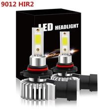 Par Car Auto Coche bombillas 9012 HIR2 80W 72 de cob Chip LED niebla/faro Color Blanco 6500 K 12000LM DC 12 ~ 30 V