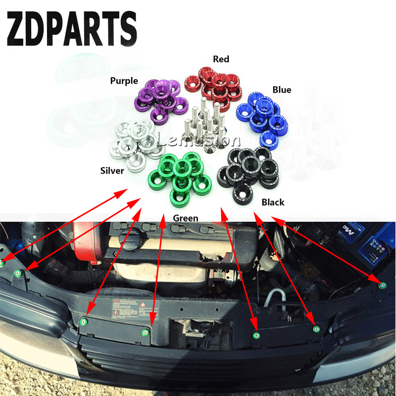 ZDPARTS 10X 6Color Car Hood Modified Screw Gaskets For Audi A3 A4 B7 B8 B6 A6 C6 C5 Q5 VW Passat B5 B6 B7 Golf 4 7 6 T5 T4 Polo turbo wastegate actuator gt1749v 454231 454231 5007s 028145702h for audi a4 b5 b6 a6 vw passat b5 avb bke ahh afn avg 1 9l tdi