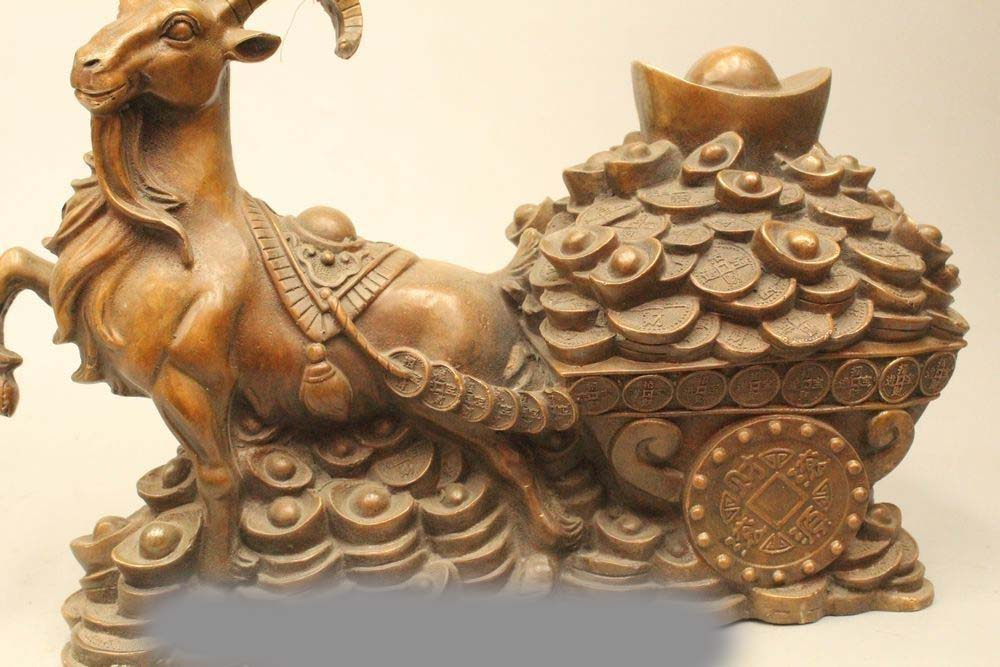 Chinese Feng Shui Lucky Money Wealth goat Statue