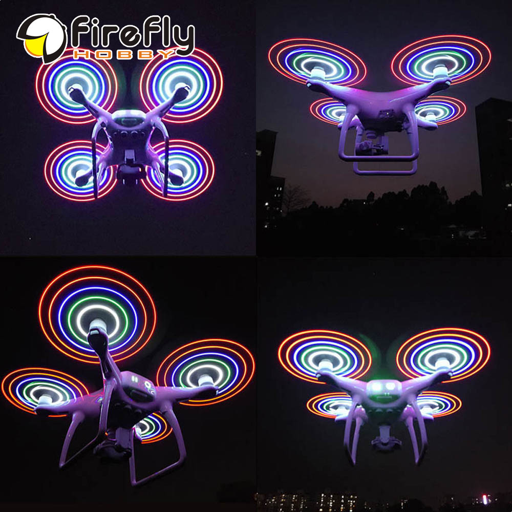 LED Flash Light Rechargeable Propellers 9450S Quick-Release Propellers for DJI Phantom 4/ PRO/ PRO+ V2.0 Drone
