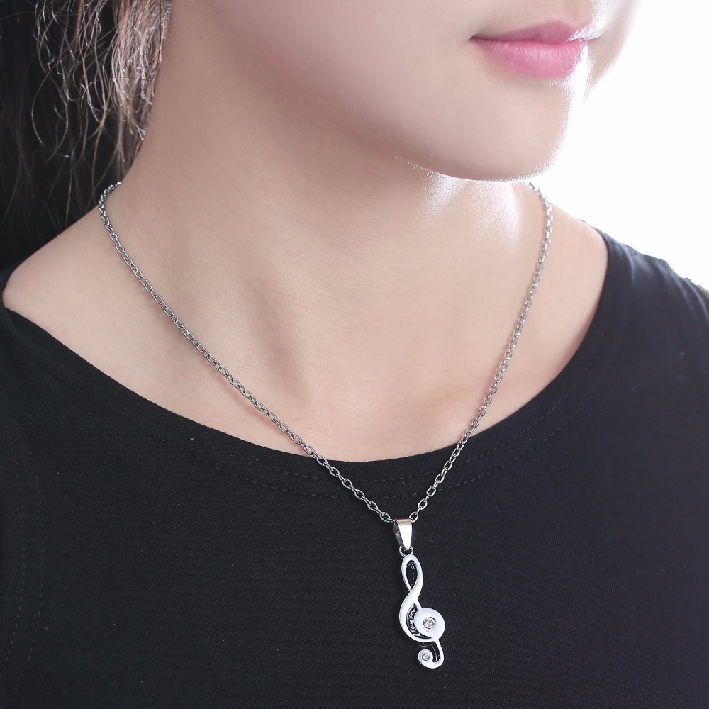 HTB1 dxlh9 I8KJjy0Foq6yFnVXaQ - 2 pcs/pair Couple Necklace For Lover Girlfriend Gift Set Musical note Valentine's Day Necklace For Women Jewelry Paired Pendants