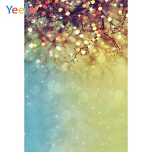 цена Yeele Professional Photography Backdrops Glitter Dreamy Light Bokeh Trees Branch Baby Photographic Backgrounds For Photo Studio