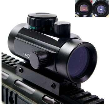 Tactical 1X40 Red Green Dot Sight Riflescope Rifle Airsoft Gun Red Green Dot Sight 11mm 20mm Rail Mount Rifle Airsoft Gun 1