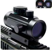 Tactical 1X40 Red Green Dot Sight Riflescope Rifle Airsoft Gun Red Green Dot Sight 11mm 20mm Rail Mount Rifle Airsoft Gun