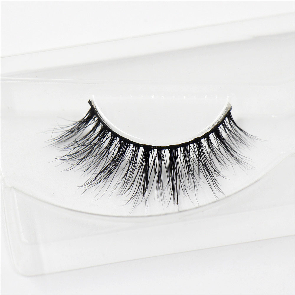 1 par / set 3D MINK Cross Thick False Eye Lashes Extensión Maquillaje Super Natural Largas Pestañas Falsas A13