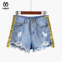 2017 New Arrival European And American BF Summer Women Jeans Short Loose Cotton Short Casual Female