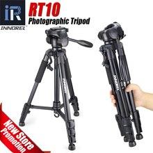 RT10 Viagens liga de Alumínio Tripé de Câmera Portátil Profissional & Cabeça Pan Câmera suporte para Digital DSLR Camera Smartphone