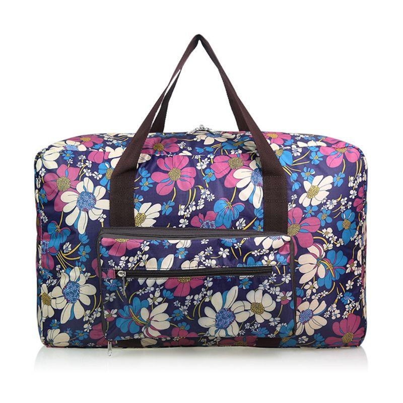 6 Colors Waterproof Weekend Luggage Tote Foldable Travel Bag Women Large Capacity Portable Shoulder Duffle Bag Cartoon Printing
