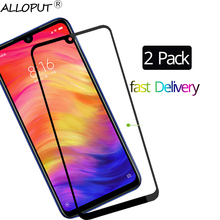 2 Pcs 9H Screen Protector Tempered Glass Redmi Note 7 Protective Film Xiaomi