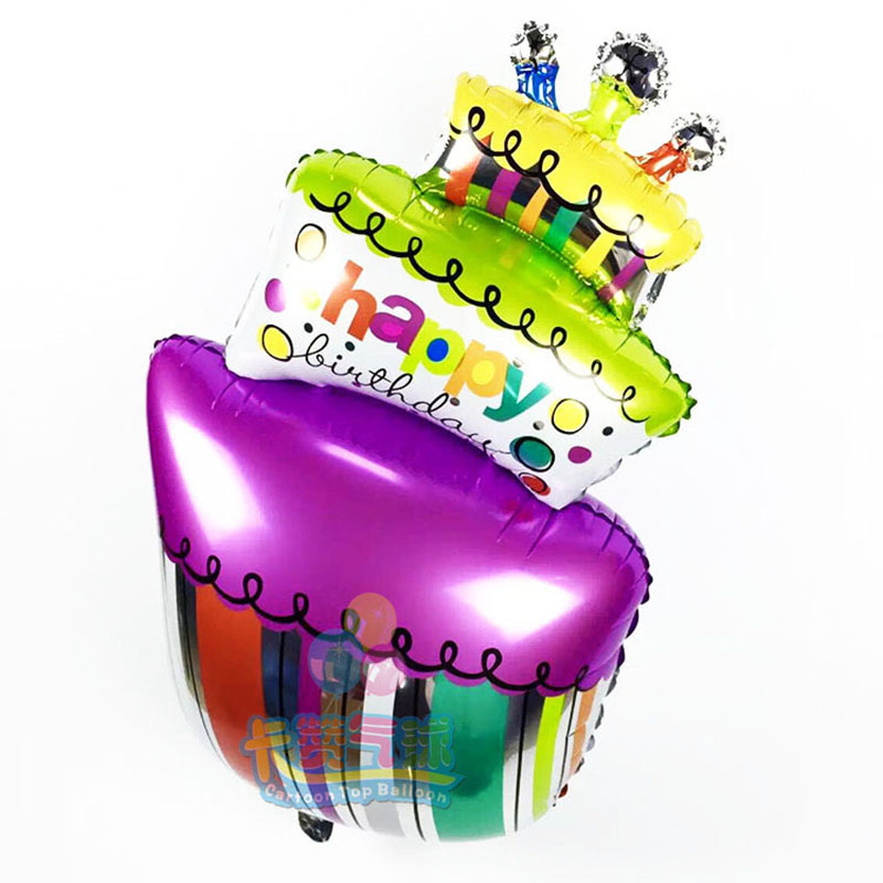 cake balloon Happy Birthday Decorations helium Ballons air Balls inflatable Foil