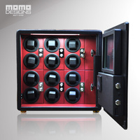 Best Quality LCD Watch Winder Safe Box In High Security For 12 Watches Steel Strongbox