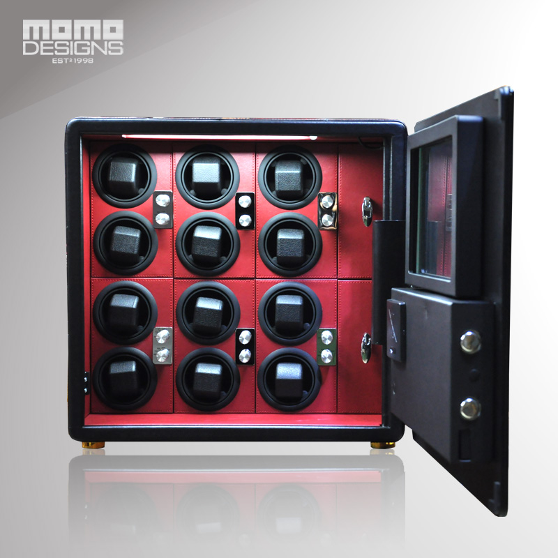 Best Watch winder Safe box for 12 piece automatic wathces Steel strongbox in high security carbon steel container Watch box