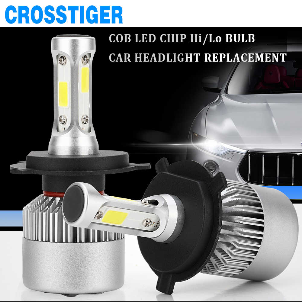 2X 12V 6000K H4 LED H7 Auto S2 Car Headlight Light Bulb 2019 Car Headlights H1 H8 H11 9006 hb4 9005 9004 H27 880 H3 Led Lights