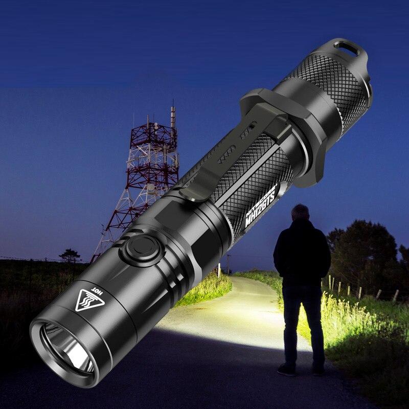 Vente NITECORE MH12GTS 1800 LMs USB Rechargeable Tactique LED lampe de Poche En Plein Air Recherche Torche sans 18650 Batterie Livraison Gratuite