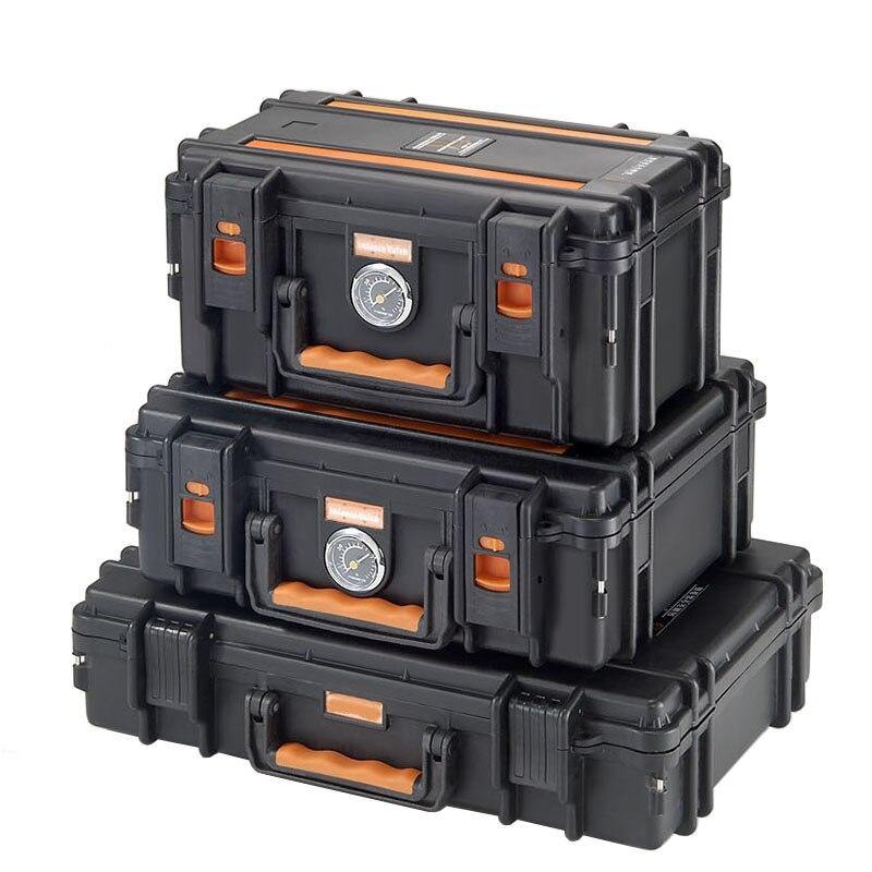 Tragbare werkzeug fall Fotografische ausrüstung Trocknen ofen Sicherheit box Objektiv lagerung box Feuchtigkeits fall Mit pre-cut schwamm