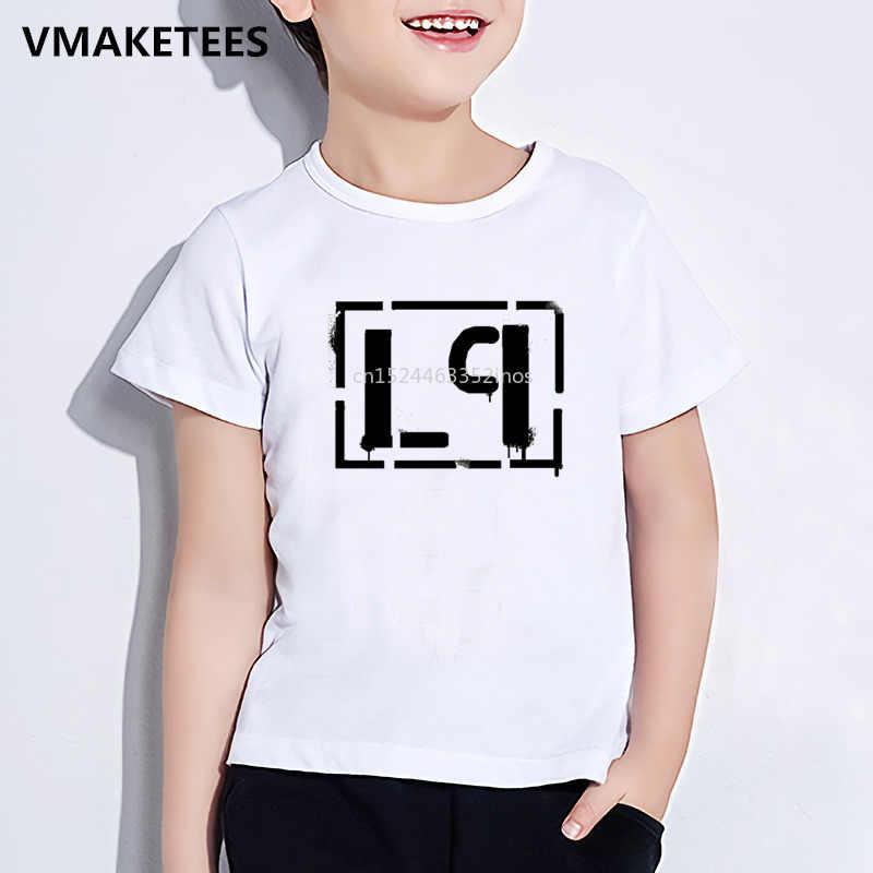 ילדים קיץ בנות ובני חולצה ילדי לינקולן לינקין פרק צ 'סטר בנינגטון הדפסת חולצה מזדמן תינוק בגדים, ooo012