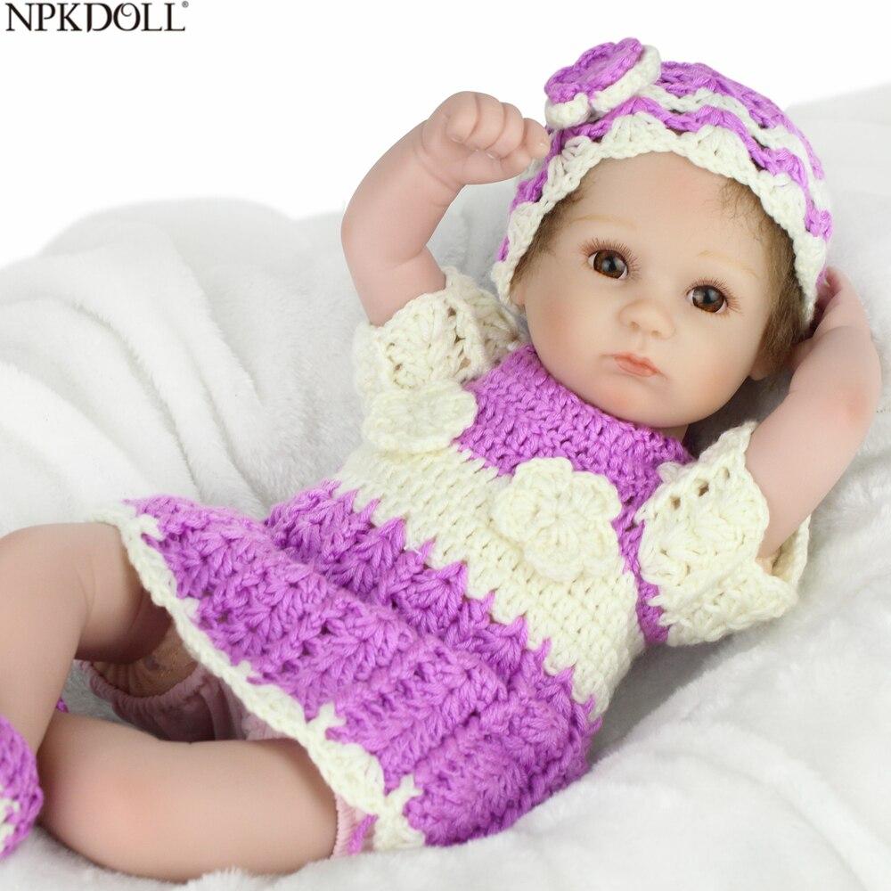 NPKDOLL 16 pouces Silicone poupée bébé Reborn fille mignon jouets doux en peluche bébé poupée vêtements pour Reborn cadeaux d'anniversaire pour les filles